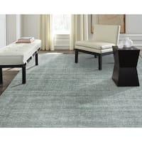 Terra Spa Blue Wool/Silkette Area Rug (7'6 x 9'6)