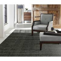 "Terra Handmade Graphite Wool and Viscose Area Rug - 7'6"" x 9'6"""