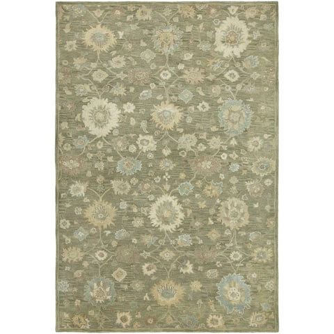 Seville Green Hand-tufted Area Rug