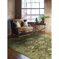 "Seville Driftwood Brown/Ivory Wool Area Rug - 7'6"" x 9'6"""