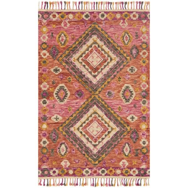 Alexander Home Sahara Fiesta Boho Hand-Hooked Wool Rug. Opens flyout.