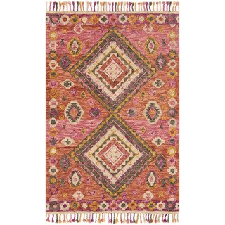Hand-hooked Sonnet Pink/ Multi Wool Rug (7'9 x 9'9)