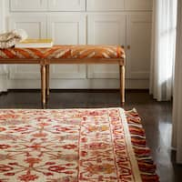 Hand-hooked Sonnet Berry Wool Rug - 7'9 x 9'9