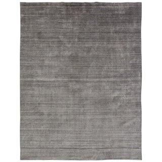 Meridian Grey Fog Wool/Viscose Handmade Area Rug (7'6 x 9'6)