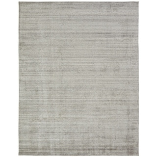 "Meridian Beige Wool and Viscose Handmade Area Rug (7'6x9'6) - 7'6"" x 9'6"""
