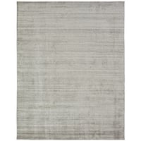 "Meridian Beige Wool and Viscose Handmade Area Rug (7'6x9'6) - 7'6"" x 9'6"""