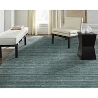"""Terra Cerulean Hand-made Heather Wool and Viscose Area Rug - 5'6"""" x 8'6"""""""