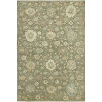 """Seville Green Wool/Viscose Hand-tufted Area Rug (5'6 x 8'6) - 5'6"""" x 8'6"""""""