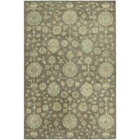 """Seville Brown Hand-tufted Area Rug (5'6 x 8'6) - 5'6"""" x 8'6"""""""