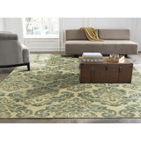 "Seville Hand-tufted Beige/Jade Wool and Viscose Area Rug - 5'6"" x 8'6"""