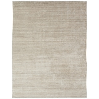 Meridian Chino Handmade Ivory Wool and Viscose Area Rug (5'6 x 8'6)