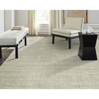 Terra Nickel Handmade Ivory Wool and Viscose Area Rug (3'6 x 5'6)
