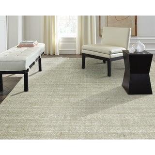 "Terra Nickel Handmade Ivory Wool and Viscose Area Rug (3'6 x 5'6) - 3'6"" x 5'6"""