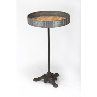 Wood-top Metal Pedestal Table