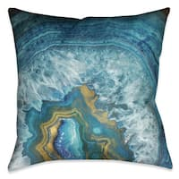 Laural Home Blue Mineral Indoor/Outdoor Decorative Pillow