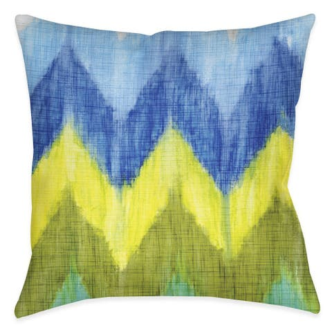 Laural Home Bright Chevron Indoor/Outdoor Decorative Pillow