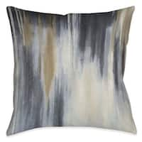 Laural Home Blue and Brown Indoor/Outdoor Decorative Pillow