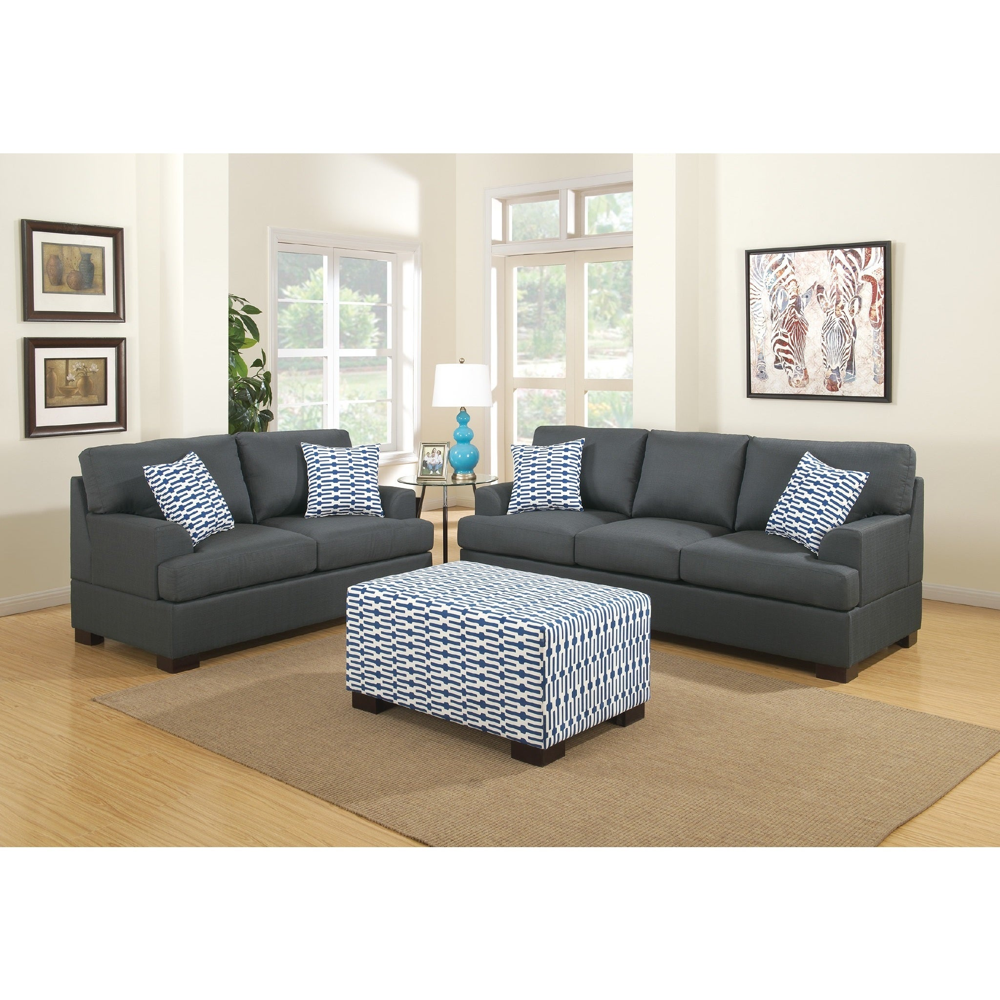 Marengo Grey 3 piece Sofa Set