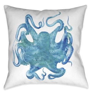 Laural Home Deep Aqua Indoor/Outdoor Decorative Pillow