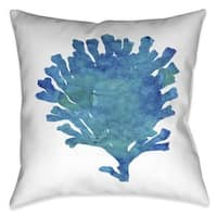 Laural Home Aqua Coral Indoor/Outdoor Decorative Pillow