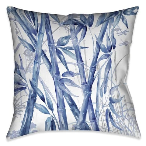 Laural Home Blue Bamboo Indoor/Outdoor Decorative Pillow