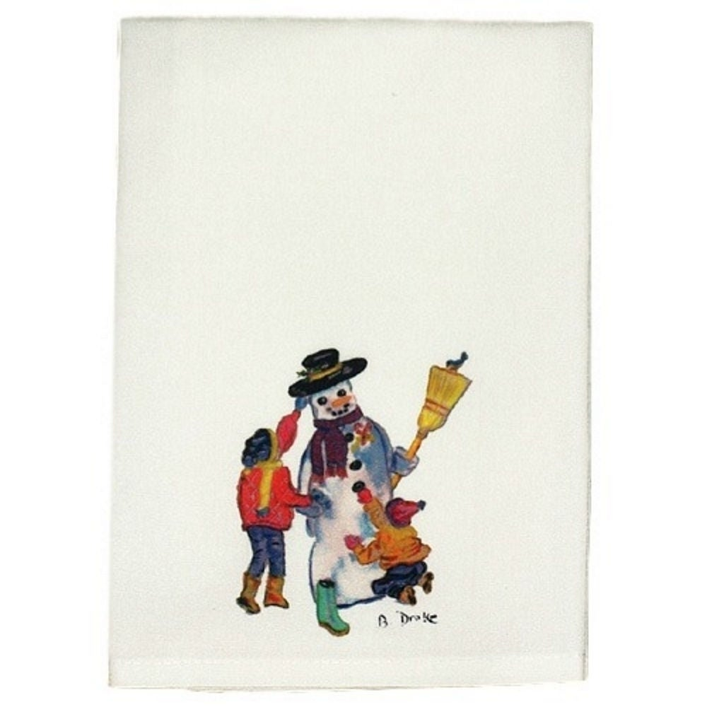 """Betsy Drake Snowman Guest Towel Set of 2 (Size: 20"""" x 20""""..."""