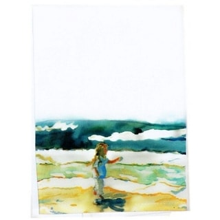 Girl at Beach Guest Towel Set of 2