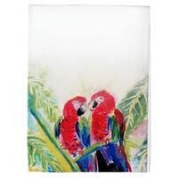 Two Parrots Guest Towel Set of 2