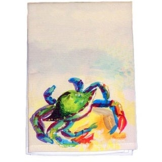 Teal Crab Guest Towel Set of 2