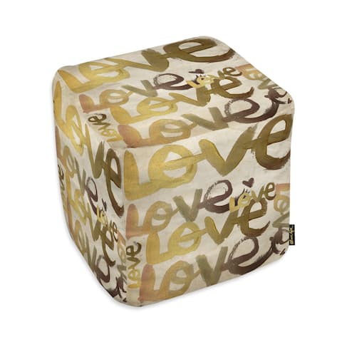 Oliver Gal 'Four Letter Word' Ottoman