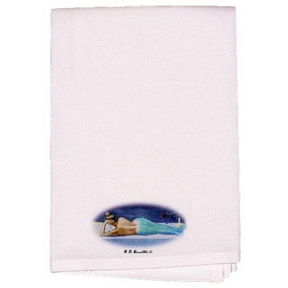 "Betsy Drake Mermaid Guest Towel Set of 2 (Size: 20"" x 20""..."