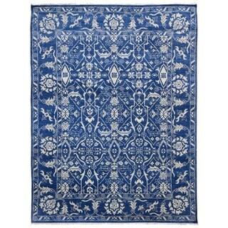 FineRugCollection Oshak Blue Wool Handmade Turkish-knot Oriental Rug (9'1 x 11'9)