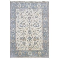 FineRugCollection Oushak Beige Wood Handmade Oriental Rug (9'10 x 13'9)