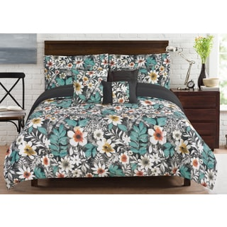 RT Designers Collection Bloomfield Floral 6-Piece Comforter Set