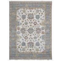 FineRugCollection Oushak Oriental Beige Handmade Area Rug (9'2x12'2)