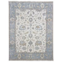 FineRugCollection Oushak Light Beige Wool Handmade Oriental Area Rug (9'x11'9)