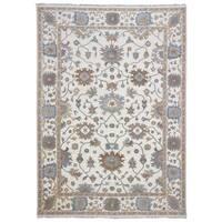 FineRugCollection Oushak Ivory Wool Handmade Oriental Area Rug - 8'11 x 12'3