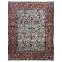 FineRugCollection Serapi Oriental Beige/Red Handmade Very Fine Rug (7'11 x 9'11)