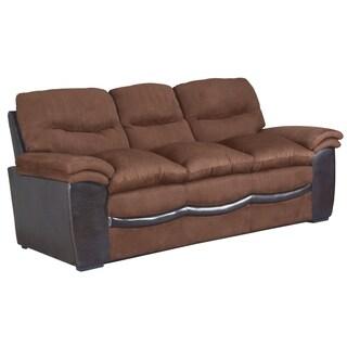 Lyke Home Chocolate Microfiber Leather Sofa