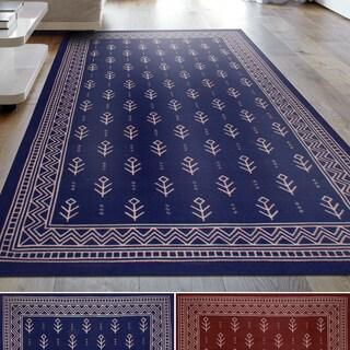 Superior Royal Club 100% Cotton, Printed Area Rug (5' x 8') - 5' x 8'