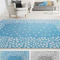 Superior Wildflower 100% Cotton, Printed Area Rug - 8' x 10'
