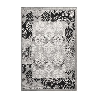 Superior Modern Mystique Grey Area Rug (2' X 3') - 2' X 3'