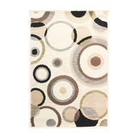 Superior Modern Ringoes Area Rug - 2' x 3'
