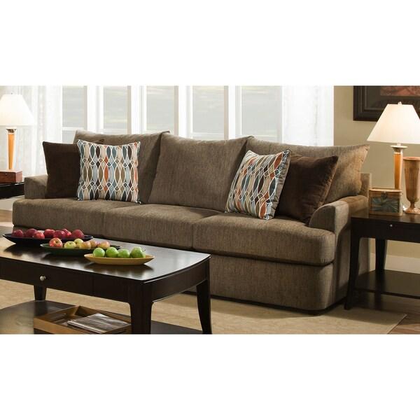 Shop Simmons Upholstery Grandstand Walnut Sofa