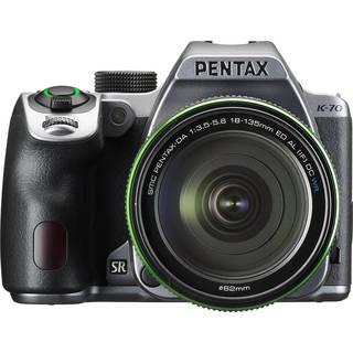 Pentax K-70 DSLR Camera with 18-135mm Lens (Silver)