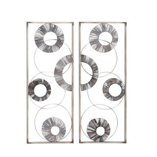 Metallic Grey Wall Decor, Assorted 2