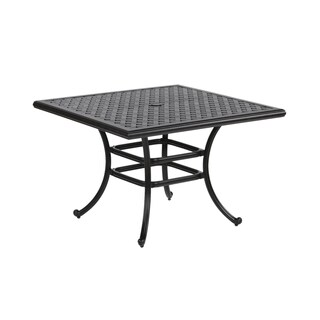 Yorkshire Aluminum 44-inch Square Dining Table