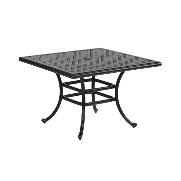 Yorkshire Aluminum Inch Square Dining Table Free Shipping Today - 44 inch square coffee table