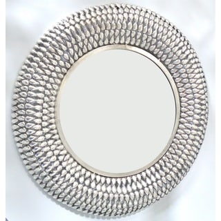 Gold Eagle Silver Glass 28.5-inch Round Wall Mirror