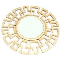 Gold Eagle Goldtone Greek Key-patterned Mirror
